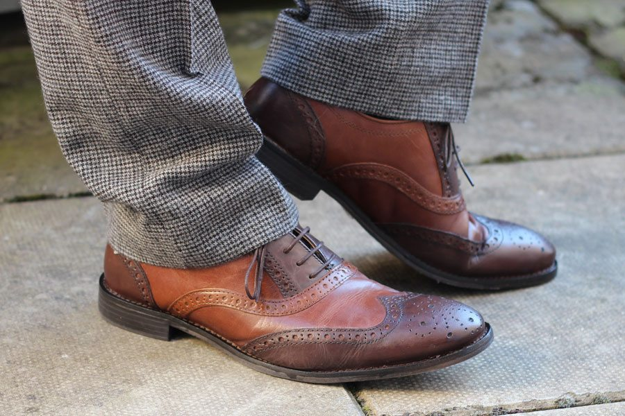 Wedding-Formal-Wear-Robin-James-The-Utter-Gutter-Brown-Leather-Brogues