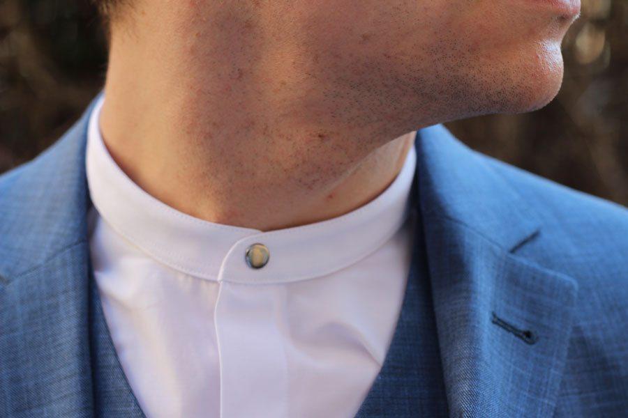 Wedding-Formal-Wear-Robin-James-The-Utter-Gutter-White-Grandad-Collar-Shirt