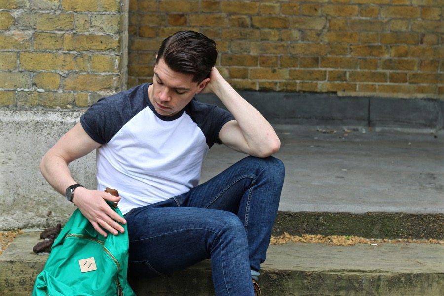 Robin-James-Baseball-T-shirt-Green-Eastpak-Bag