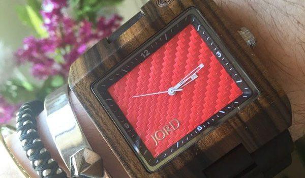 Jord Watch | Dark Sandalwood and Red Carbon