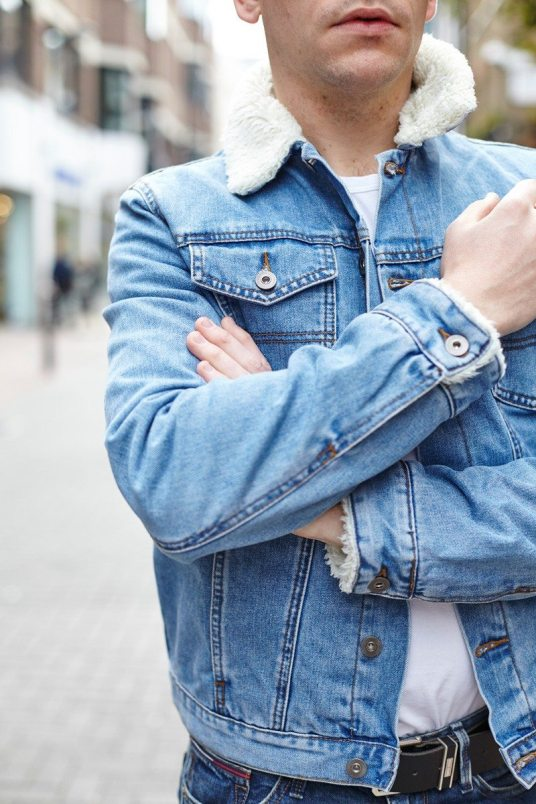 ASOS Denim Jacket Borg Collar | Robin James | Man For Himself