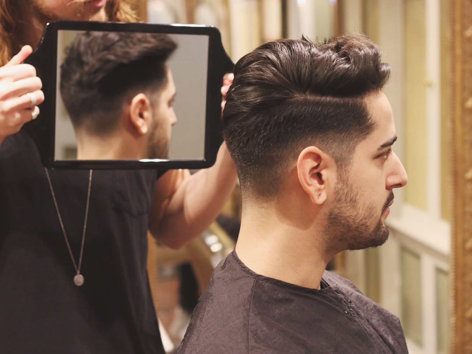 Mens Haircut And Style Undercut Quiff