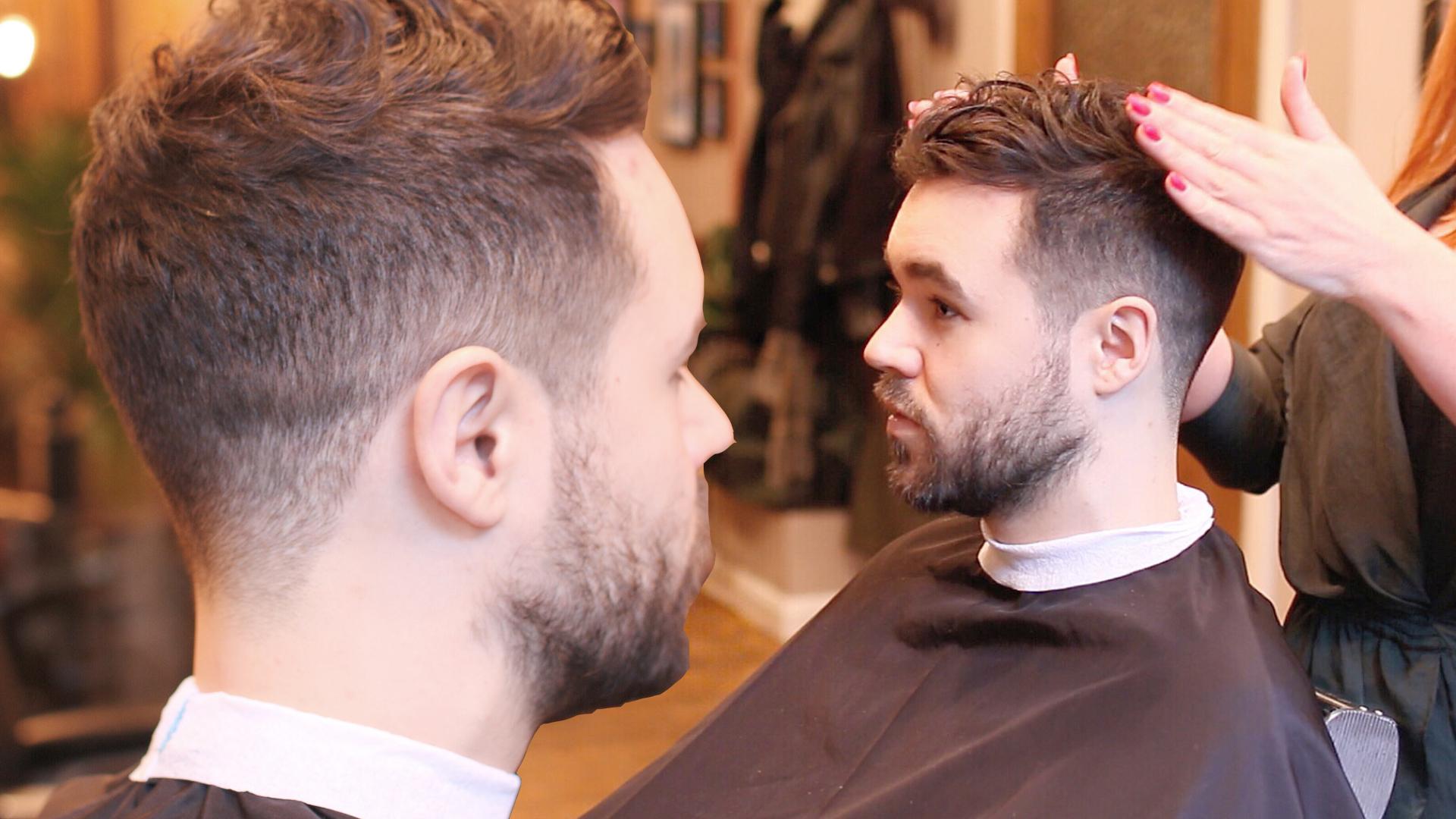 Mens Curly Hair Fade Haircut