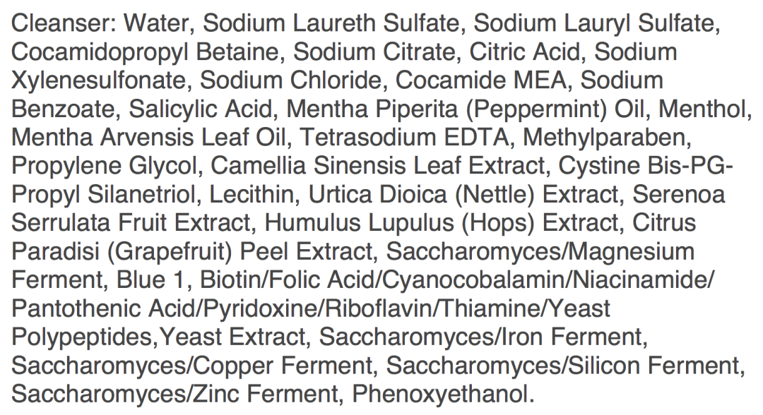 nioxin system 1 cleanser ingredients