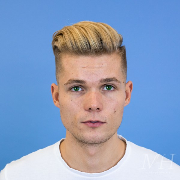 Blonde Skin Fade With Long Top