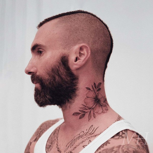 Adam Levine: Shaved Back & Sides With A Mohawk