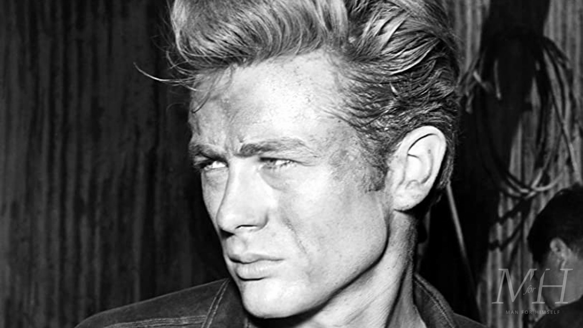 James Dean Swept Back Hairstyle Man For Himself