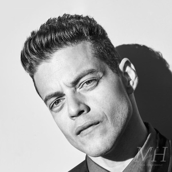 Rami Malek: Short Textured Fringe Hairstyle