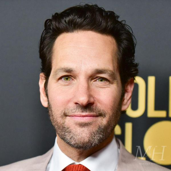 paul rudd swept back wavy hairstyle