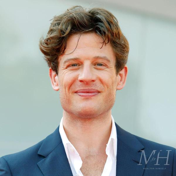 James Norton: Medium Length Wavy Hair Loosely Swept Back