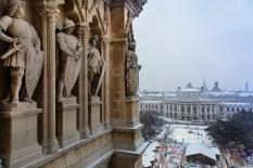 Burgtheater v Rathaus aus Jän 17-1-2