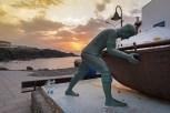 Denkmall mit Sonnenuntergang El Cotillo Dez 16-2-2