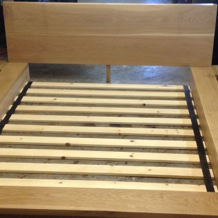 Custom hardwood White Oak Bedframe square