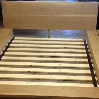 Custom hardwood White Oak Bedframe square