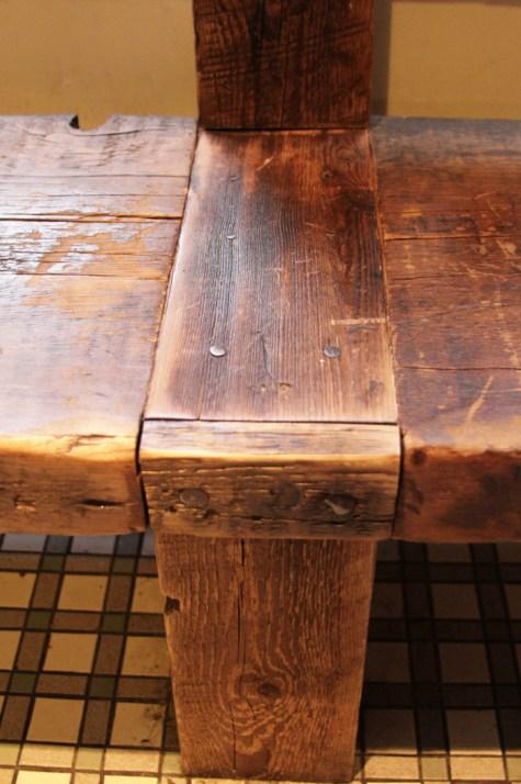 Bench detail.