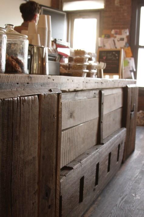 Coffee bar counter.