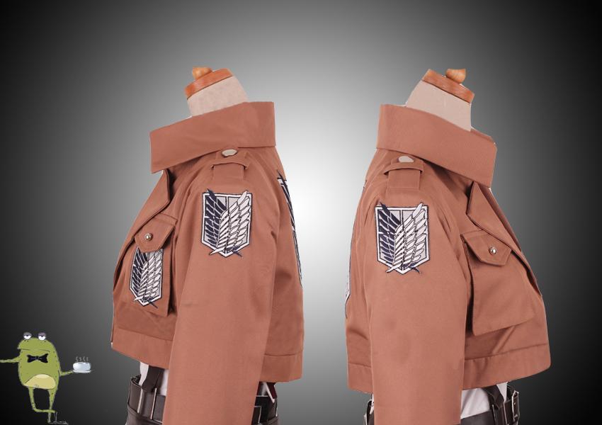 survey corps uniform eren jaeger cosplay costume world. Black Bedroom Furniture Sets. Home Design Ideas