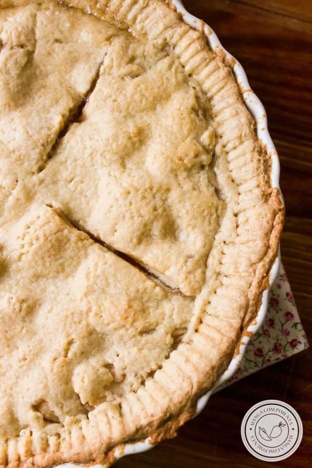 Receita de Apple Pie, verdadeira Torta de Maçã Americana para o seu café da tarde com os amigos.