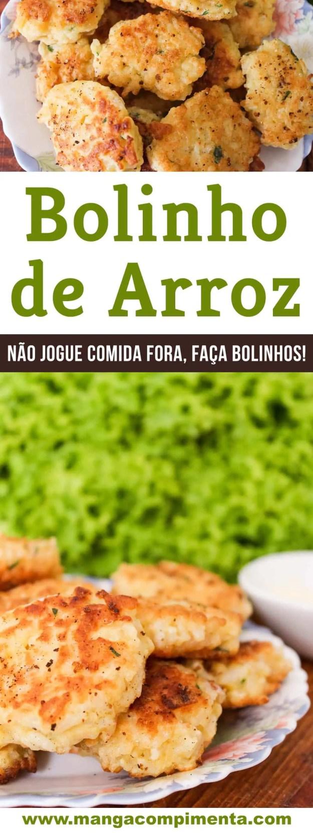 Bolinho de Arroz - economize fazendo um prato delicioso.