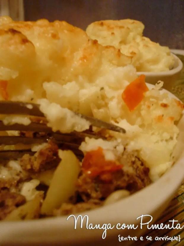 Torta de Carne para Sophie Dahl e para mim, escondidinho de carne