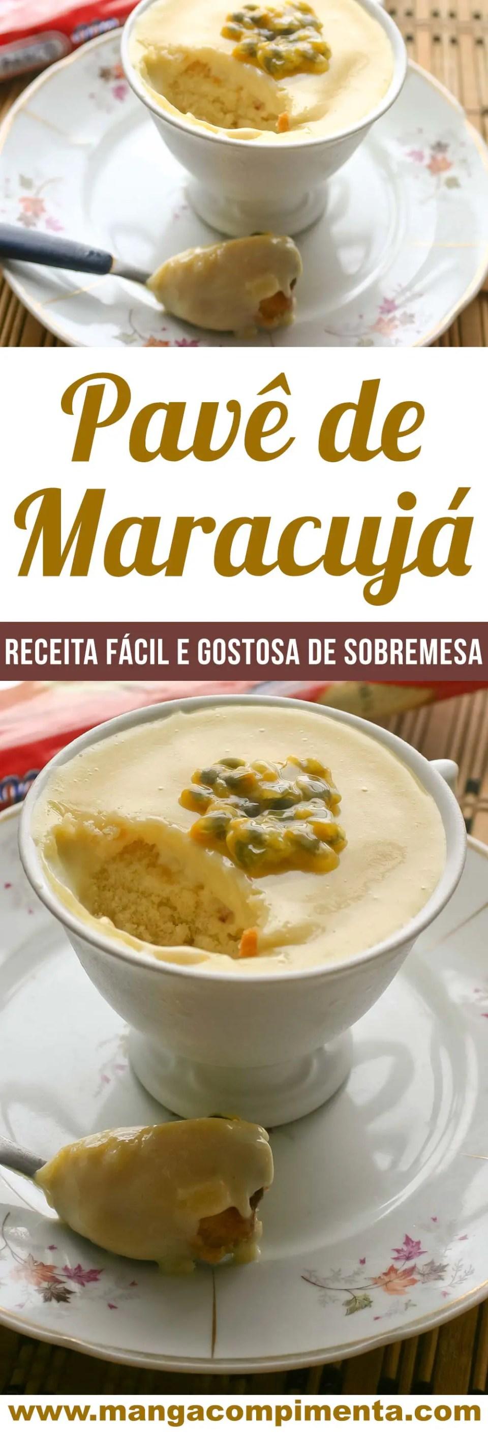 Pavê de Maracujá na Xícara de Chá | Prepare essa sobremesa para toda família!