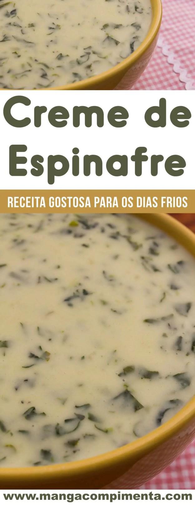 Creme de Espinafre - prepare essa receita nos dias mais frios.