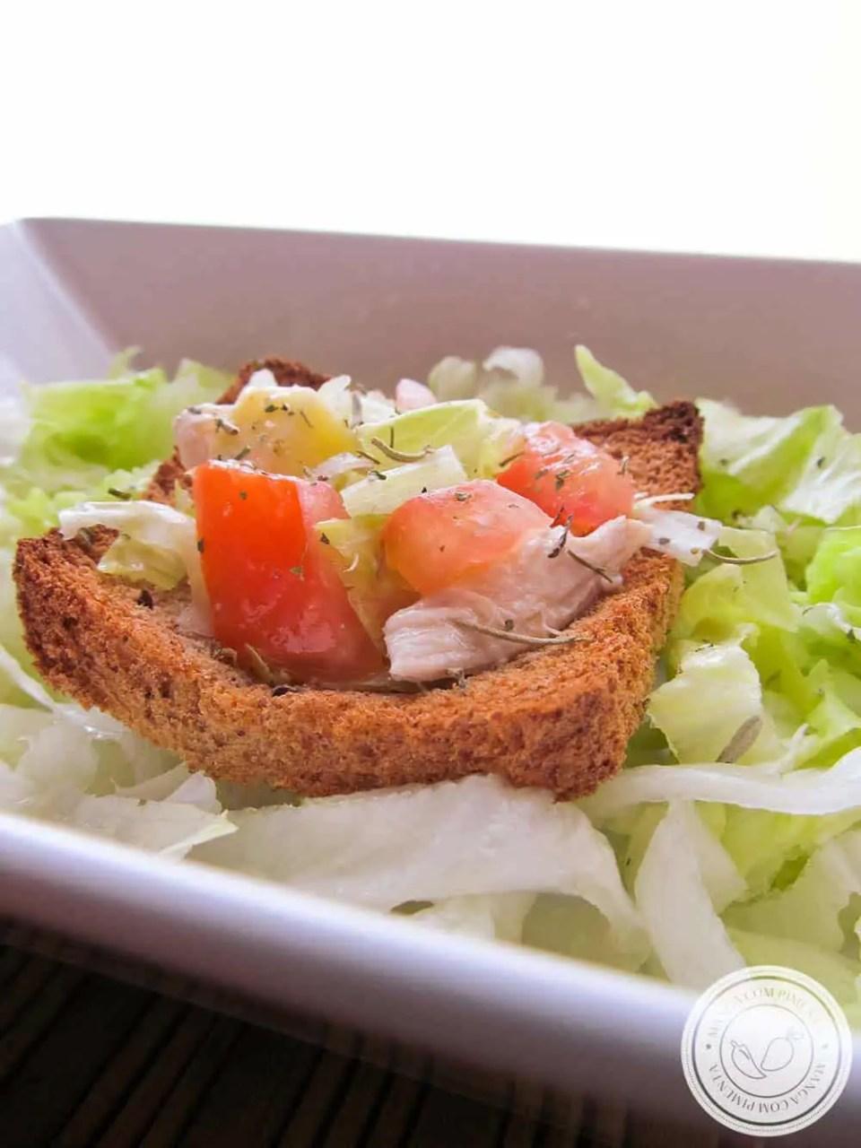 Cestinhas de Pães com Salada - para servir com charme!