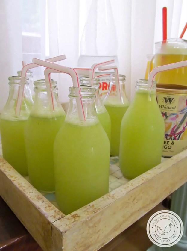 Limonada Especial da Lia do Tacho da Pepa - com Limão Siciliano e Capim Santo, uma bebida deliciosa.