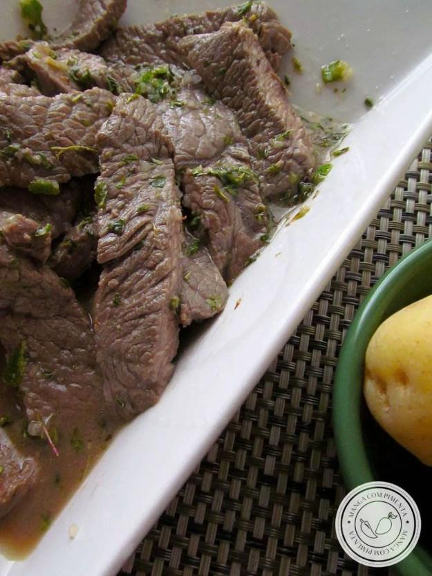Tirinhas de Alcatra com Limão e Orégano by Nigella - perfeito para beliscar em dias quentes!