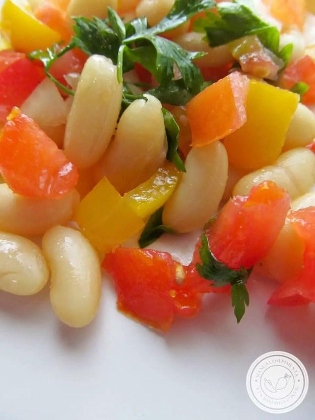 Salada de Feijão Branco - uma delícia do almoço para a semana!