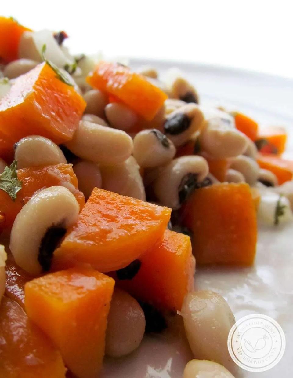 Salada de Feijão Fradinho - um prato gostoso para os dias quentes.