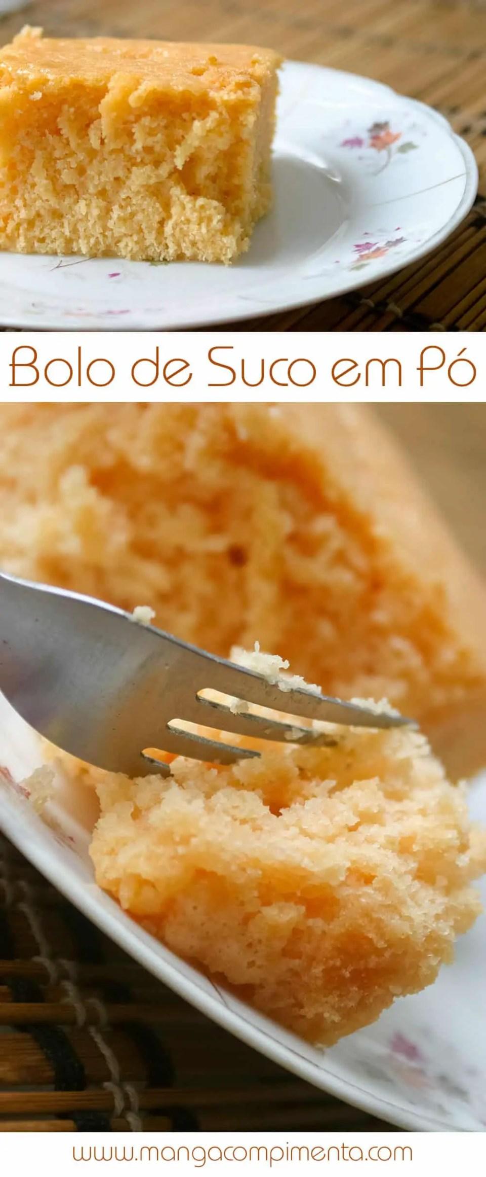 Receita de Bolo de Suco em Pó - Pode fazer sem medo de ser feliz!