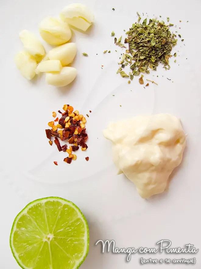 Maionese temperada para petiscos e saladas