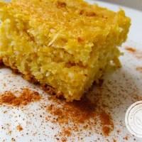 Bolo de Bagaço de Milho Verde com Coco | Uma receita gostosa para a Festa Junina.