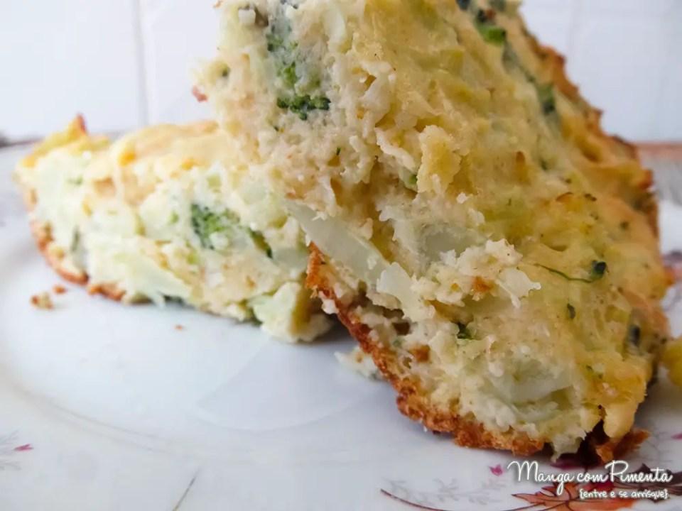 Enformado de brócolis e Couve-Flor
