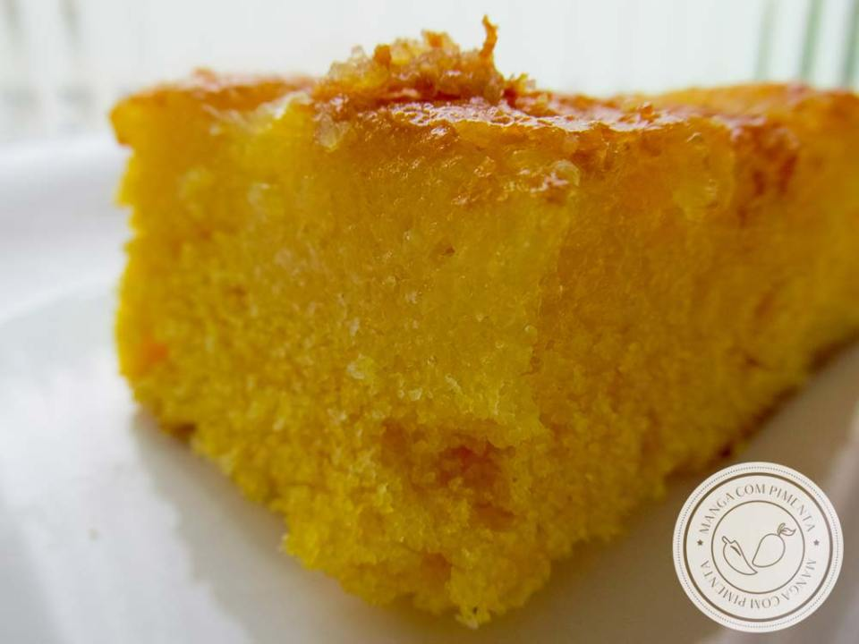Bolo de Fubá com Suco de Laranja - troque o leite pelo suco, prepare um delicioso bolo em casa!