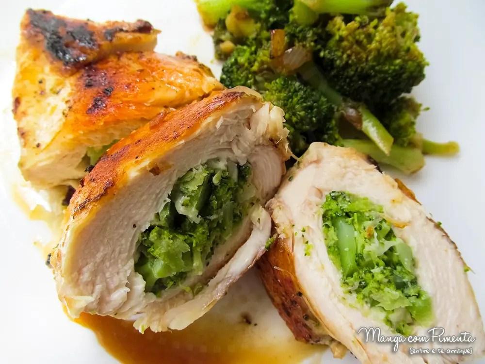 Resultado de imagem para peito frango recheado brocolis