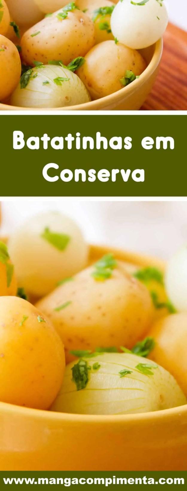 Receita de Batatinhas em Conserva - delicioso para petiscar ou servir na salada!