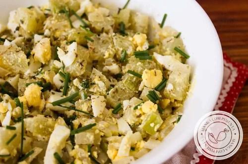 Salada de Chuchu com Ovo - para um almoço nutritivo na semana!