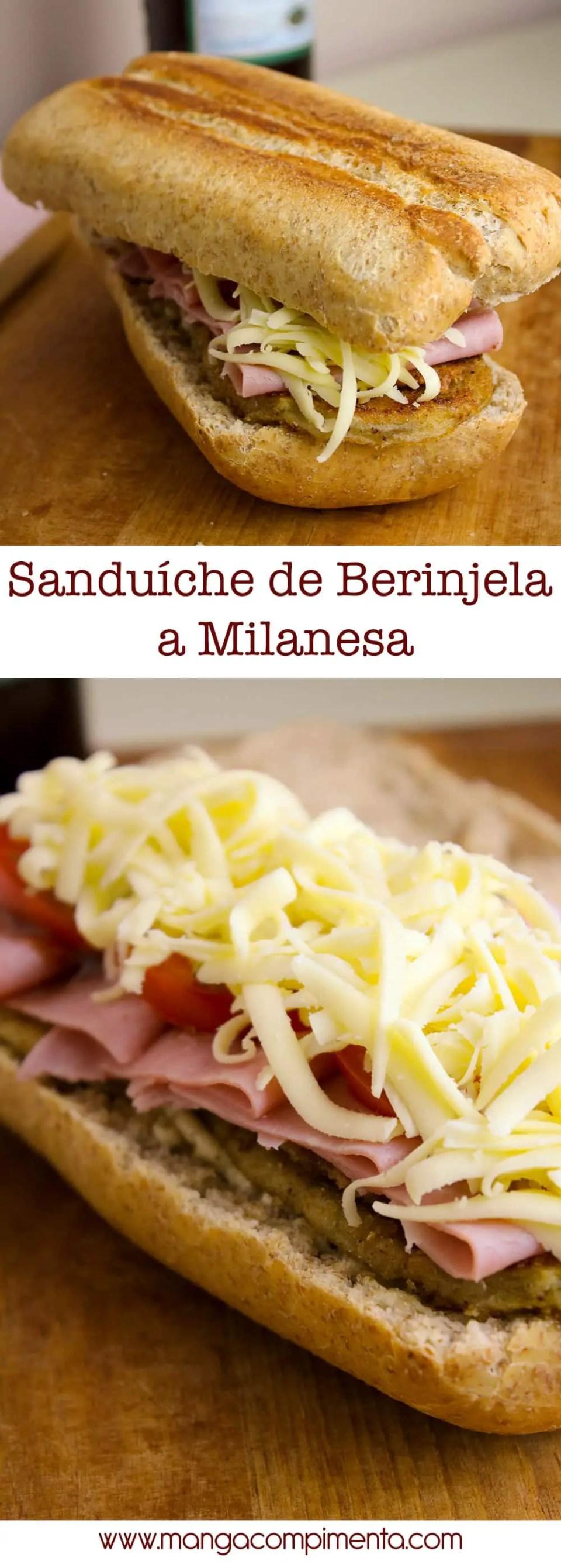 Sanduíche de Berinjela a Milanesa