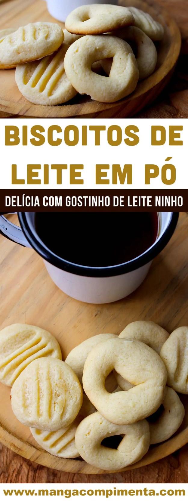 Biscoitos de Leite em Pó | sirva no café da manhã ou da tarde - gostinho de Leite Ninho!