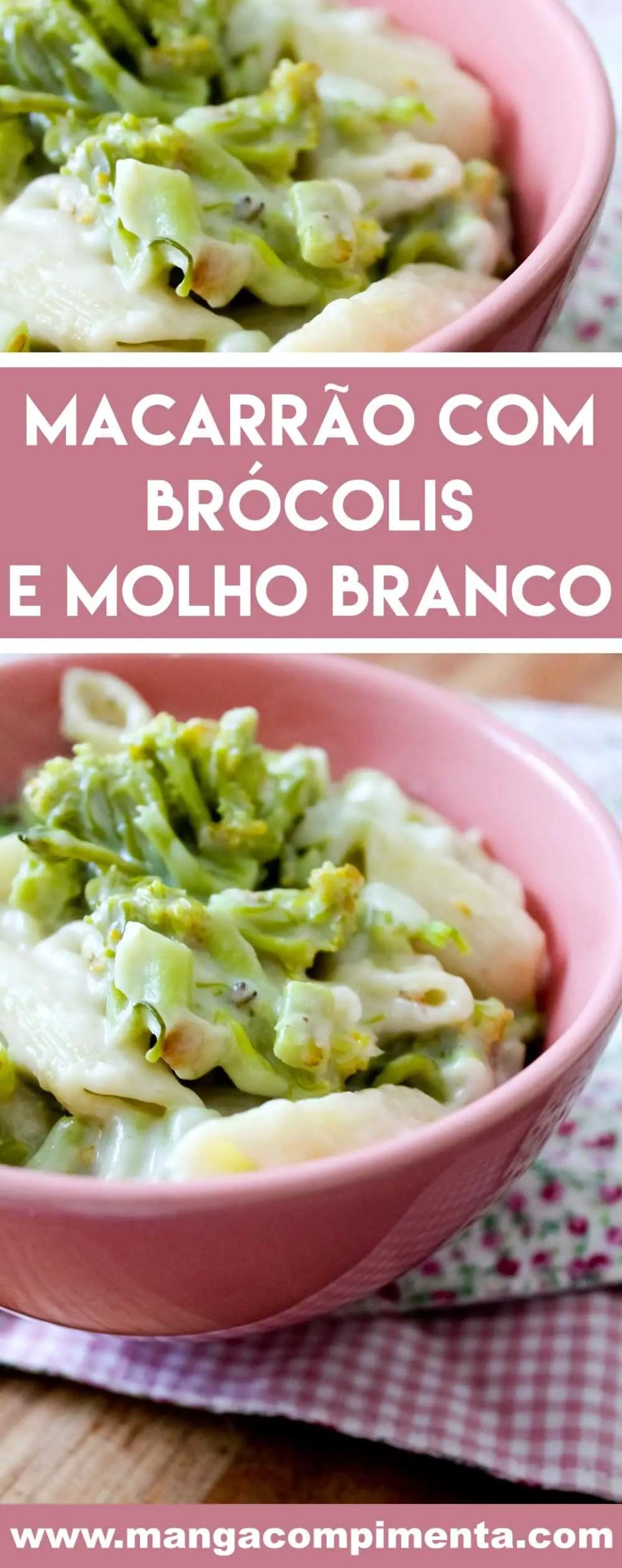 Receita de Macarrão com Brócolis e Molho Branco - um prato que te abraça e mata a fome!