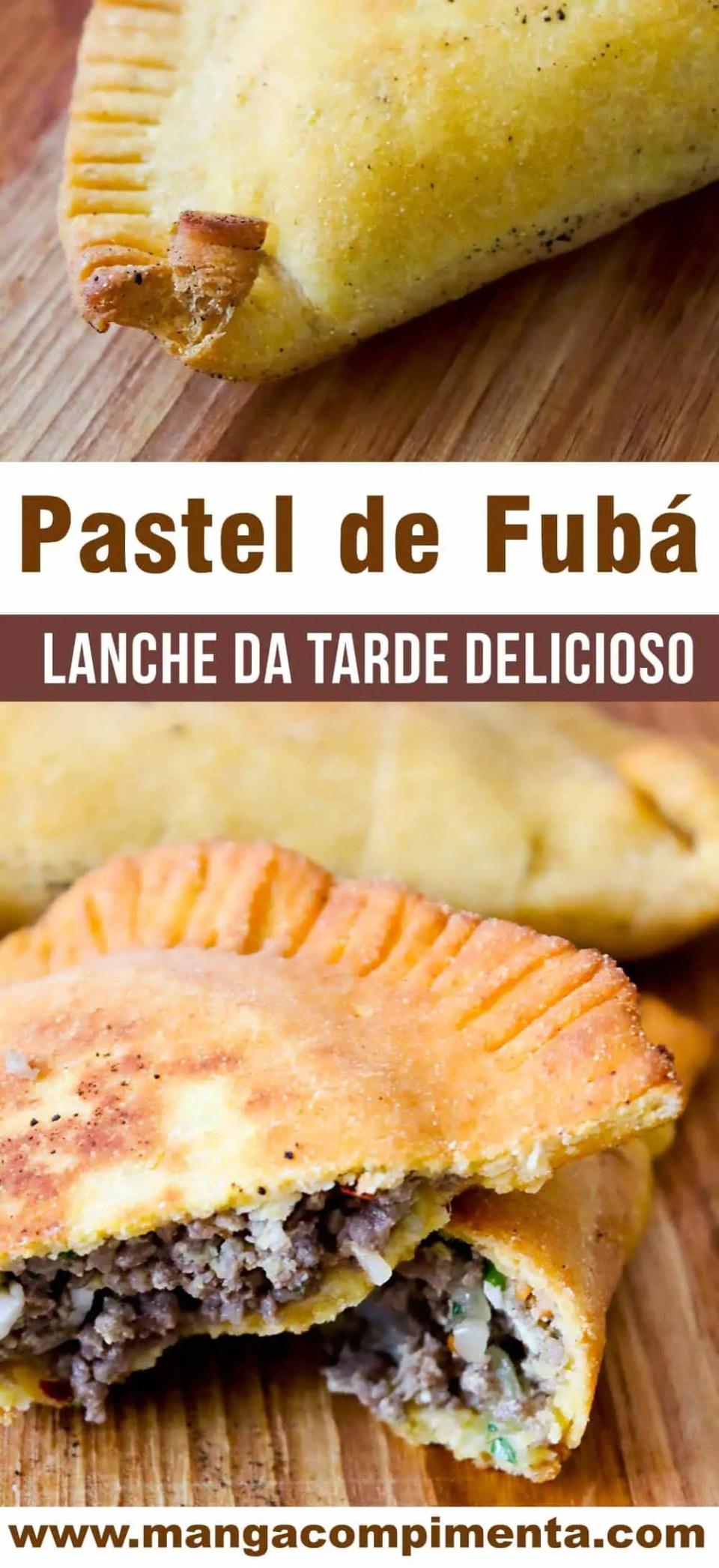 Pastel de Fubá - Sirva no Lanche da tarde ou para ganhar dinheiro!