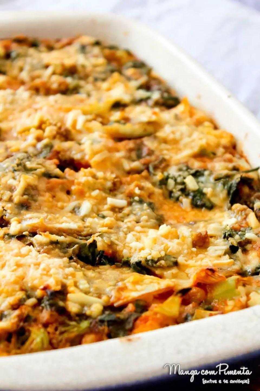 Torta Pizza de Espinafre com Brócolis