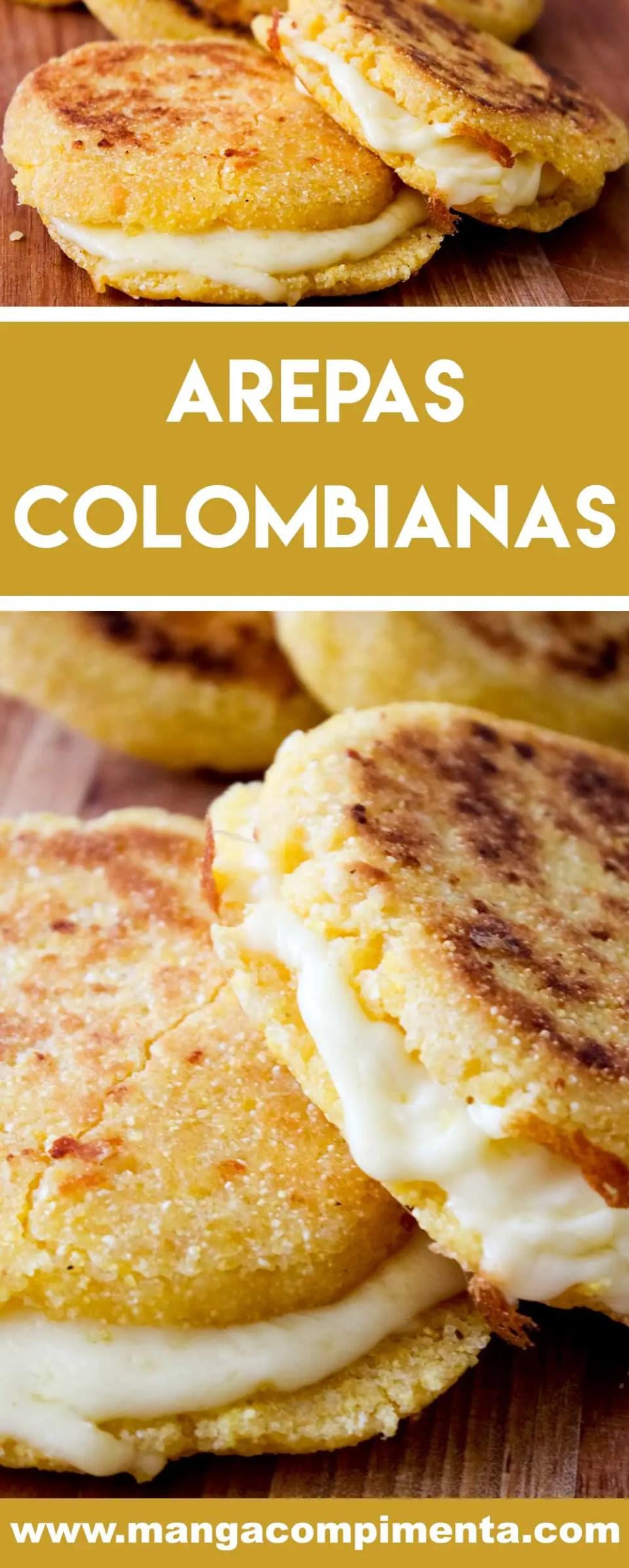 Receita de Arepas Colombianas - um lanche delicioso e diferente para curtir com os amigos e família.