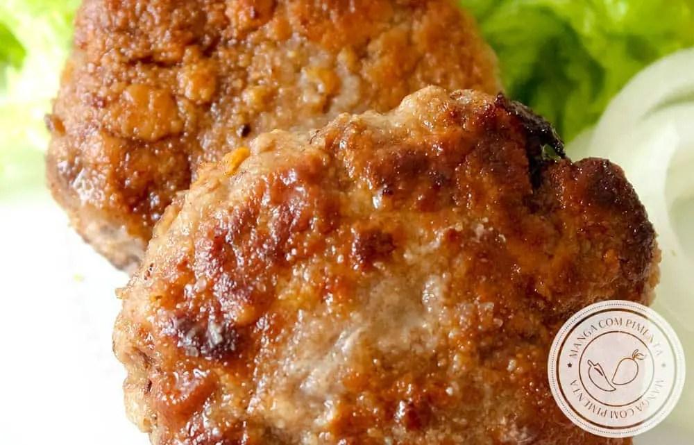 Bife de Carne Moída à Milanesa - um prato gostoso para o almoço ou jantar da semana!