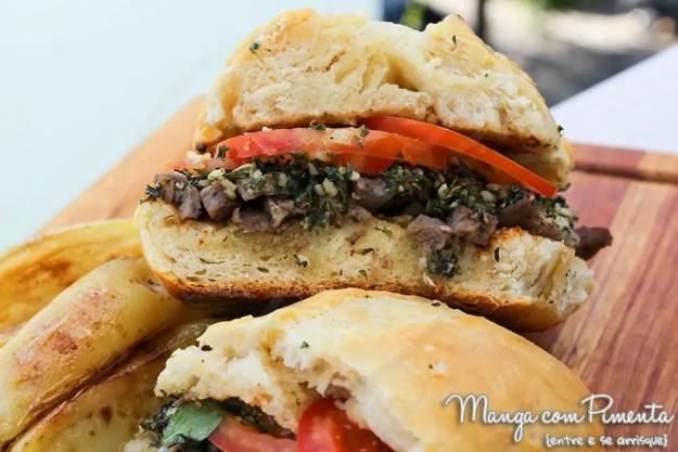 Receitas de Sandubas: Sanduíche de Carne com Chimichurri
