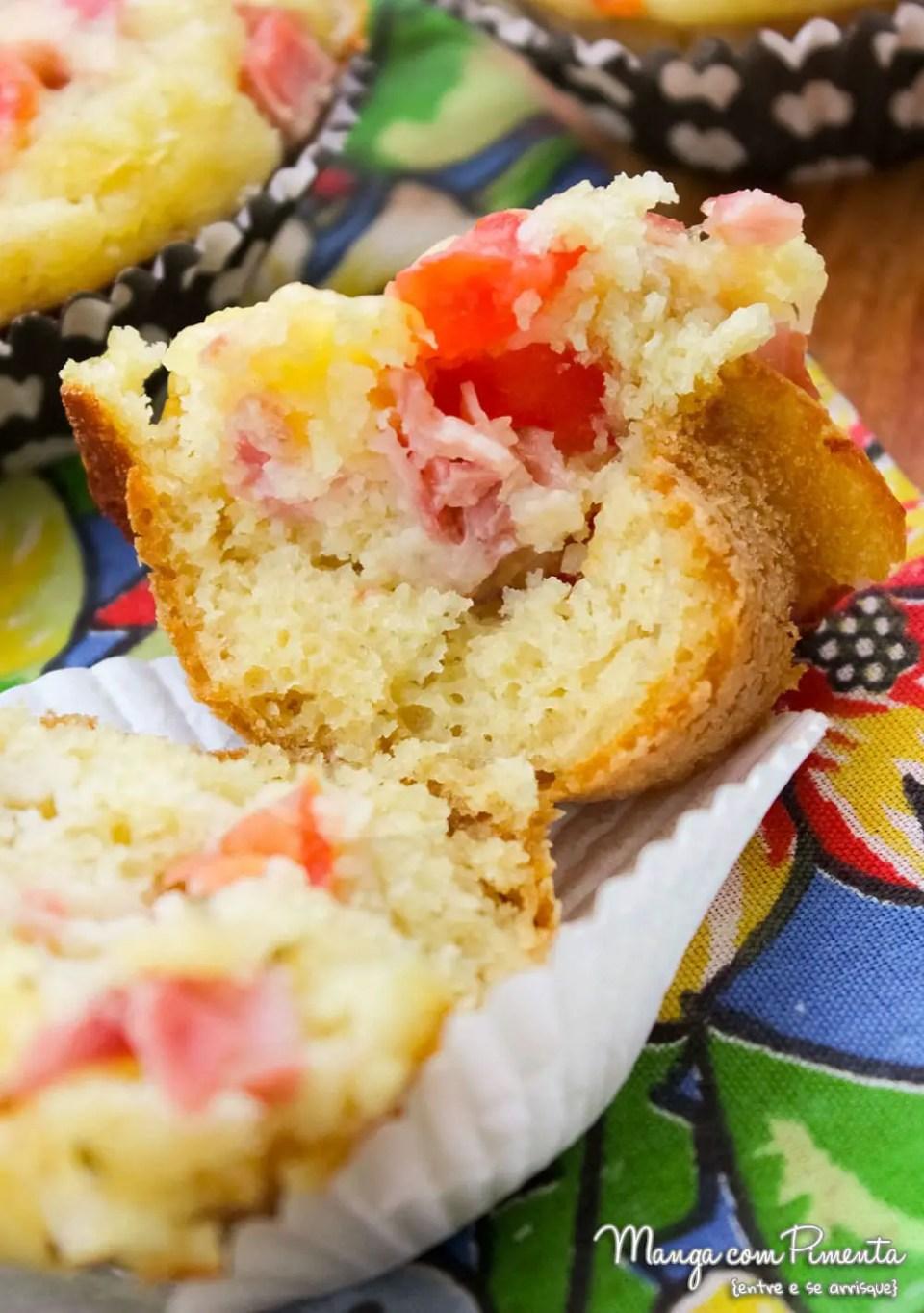Receita de Muffin de Panqueca - Salgado