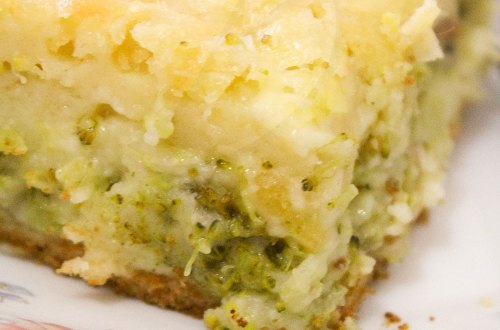Torta de Liquidificador Brócolis e Queijo