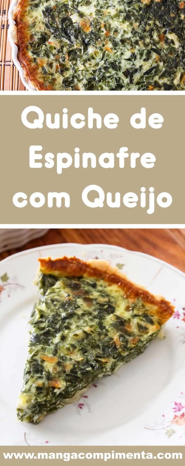 Receita de Quiche de Espinafre com Queijo - prepare um prato delicioso para as datas especiais.